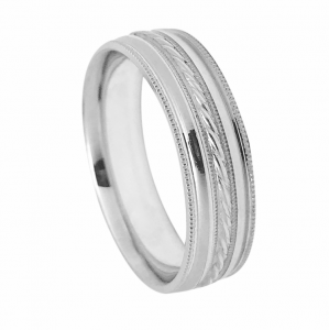 Intricately Designed Milgrain Detail Wedding Band